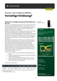 Dong Energy – 3010 von KAUFEN auf VERKAUFEN - Jyske Bank