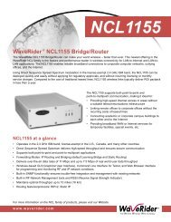 WaveRider® NCL1155 Bridge/Router - Kambing UI