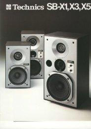SB-X1, SB-X3 and SB-X5