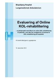 Evaluering af Online KOL-rehabilitering