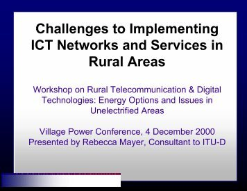 II. Challenges to ICT Implementation in Rural Areas - Kambing UI