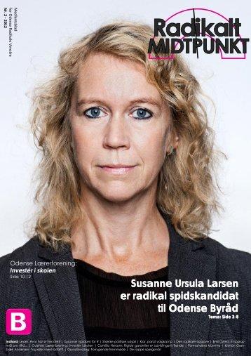 Susanne Ursula Larsen er radikal spidskandidat til Odense Byråd