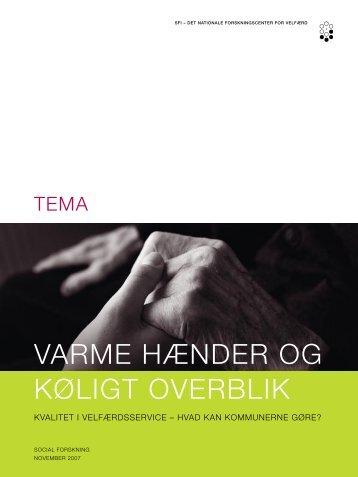 VARME HÆNDER OG KØLIGT OVERBLIK - SFI