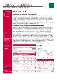 NORDEA – STRONG BUY - Jyske Bank