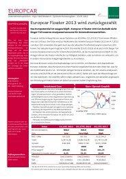 Europcar Floater 2013 wird zurückgezahlt - Jyske Bank