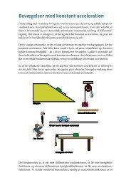 Bevægelser med konstant acceleration - matematikfysik