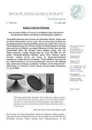 max-planck-gesellschaft - Laboratory of Photonics and Quantum ...