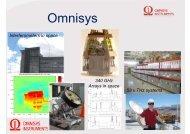 Presentation av Omnisys Instruments från hearingen - Rymdstyrelsen