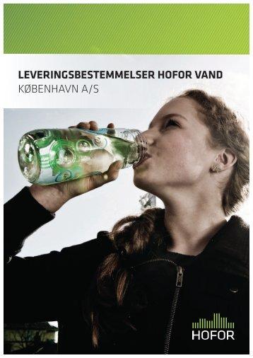 LEVERINGSBESTEMMELSER HOFOR VAND KØBENHAVN A/S