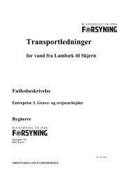 Fællesbeskrivelse, Entreprise 3 - Ringkøbing-Skjern Forsyning A/S