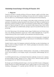 Almindelige bemærkninger til forslag til Finanslov 2011 - Kamikposten
