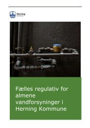 Fælles regulativ for almene vandforsyninger i Herning Kommune
