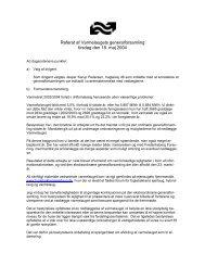 Referat af Varmelaugets generalforsamling tirsdag ... - Fuglebakken