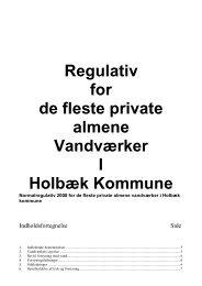 Regulativ for de fleste private almene Vandværker I ... - Skysite
