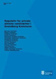Regulativ for private almene vandværker i Svendborg Kommune