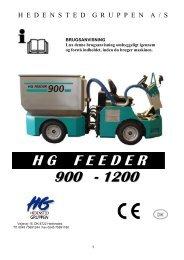 H G    F E E D E R 900 - 1200 - Hedensted Gruppen