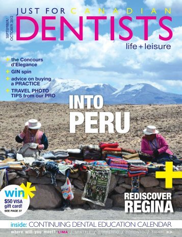 September October 2012 - Just For Canadian Dentists Magazine