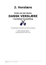 2. Verslære DANSK VERSLÆRE - NORDISC Music & Text