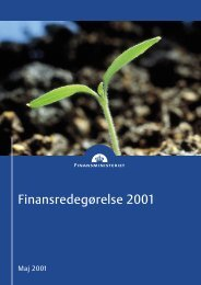 Finansredegørelse 2001 - Finansministeriet