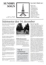 """Læs inde i bladet om: Koncerter """"Åbent hus - Sundby kirke"""