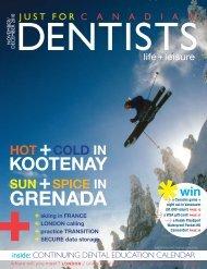 Nov Dec 2010 - Just For Canadian Dentists Magazine