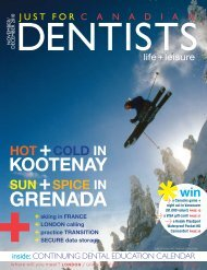 Nov Dec 2010 - Just For Canadian Dentists Magazine