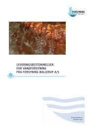 Leveringsbestemmelser for vandforsyning (Vandregulativet)