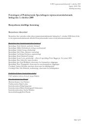 Skriftlig beretning 2009 - Lægeforeningen