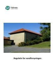 Vand regulativ 2012/2013 - Halsnæs forsyning