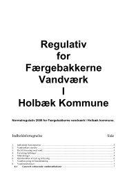 Regulativ for Færgebakkerne Vandværk I Holbæk Kommune