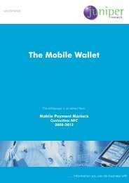 The Mobile Wallet - Juniper Research