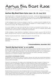 Aarhus Big Boat Race flytter dato: 18.-19. maj 2012 ... - Egå Sejlklub