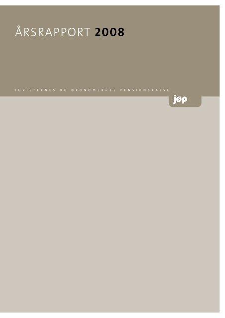 ÅRSRAPPORT 2008 - JØP