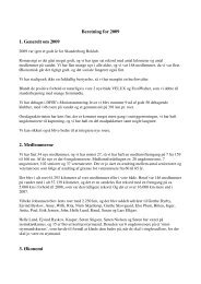 Formandens beretning for 2009 - Skanderborg Roklub