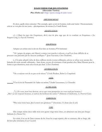 jules verne par ses citations - Analyses littéraires des romans de ...