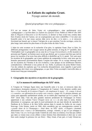 Format PDF - Analyses littéraires des romans de Jules Verne