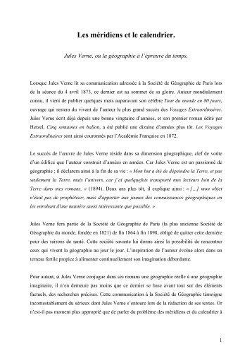 lien - fichier PDF - Analyses littéraires des romans de Jules Verne