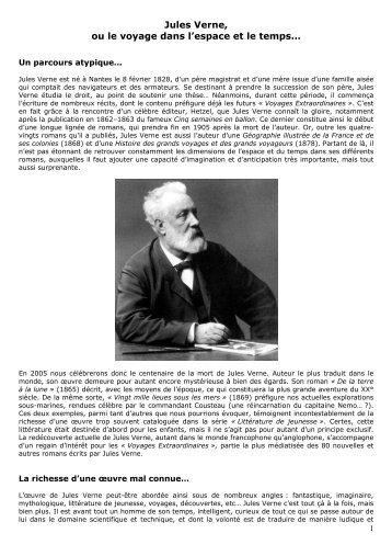 Jules Verne, ou le voyage dans l'espace et le temps… - Analyses ...
