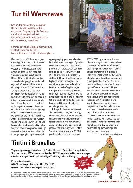 2013 TEGNEREN, medlemsblad Warszawa Tegner ... - Tegnerne