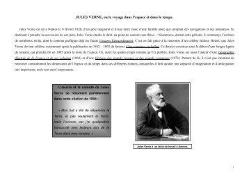 Exposition pédagogique sur Jules Verne et son oeuvre : 1° partie