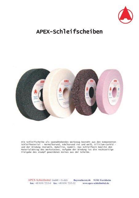APEX-Schleifscheiben - APEX - Schleifmittel