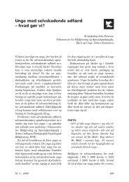 Unge med selvskadende adfærd – hvad gør vi? - Jettepetersen.dk