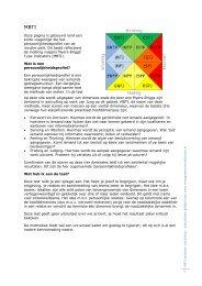 uitgebreide toelichting MBTI-profielen (pdf) - Gert Jan Schop