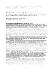 1 Risikofaktorer for selvmordsforsøg blandt børn og unge - SFI