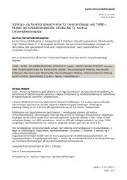 Stillings- og funktionsbeskrivelse for overtandlæge ved TAND ...