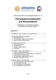 Handout Partizipationsmethoden - Landesjugendring MV - Schwerin