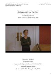 Stil og motifs i La Pianiste - Filmtrend.dk
