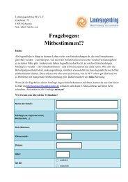 Fragebogen: Mitbestimmen?! - Landesjugendring MV - Schwerin