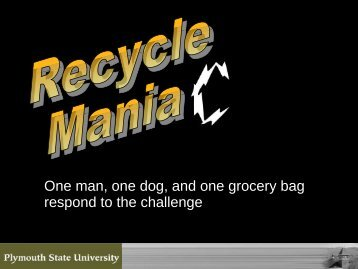 One man, one dog, and one grocery bag respond to the challenge