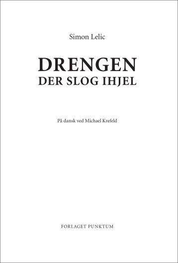 Drengen der slog ihjel - læseprøve - Forlaget Punktum
